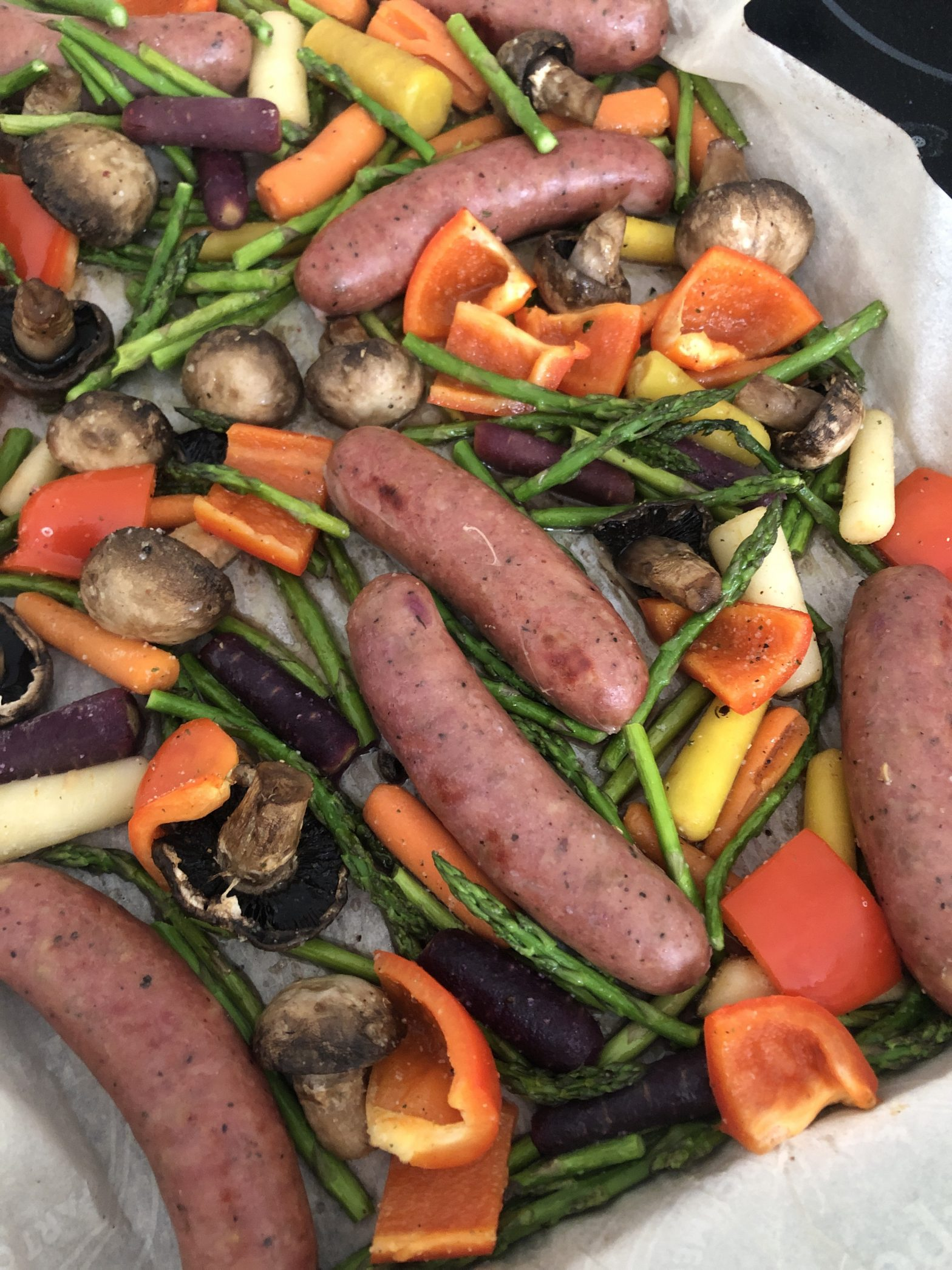 One Pan Chicken Sausage and Veggies